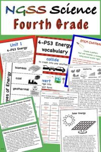 a link to a fourth grade science bundle