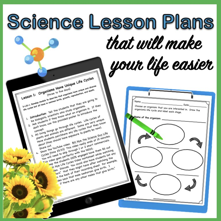 To let teacher know that there are science lesson plans that can help them