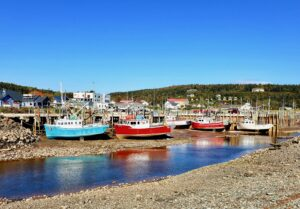 low tide at the bay of fundy