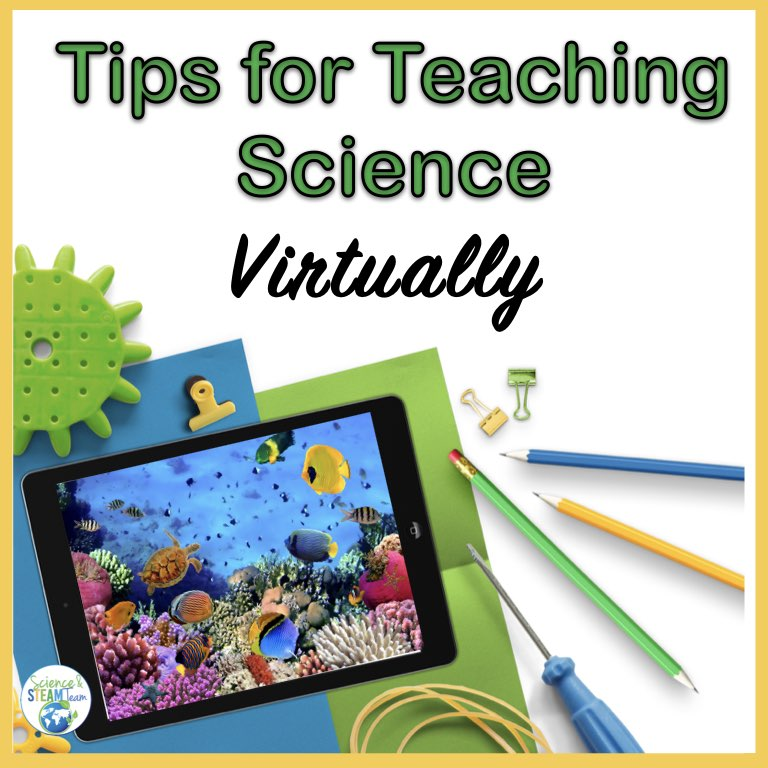 Cover for teaching science virtually