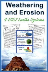 link to a 4th grade science lesson on weathering and erosion