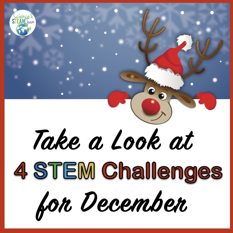 December STEM challenges cover photo