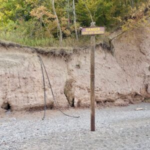 well showing erosion on chimney bluffs