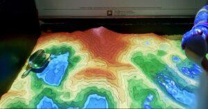 augmented reality sandbox at spring lake