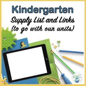 kindergarten science materials