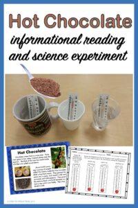 hot chocolate winter science
