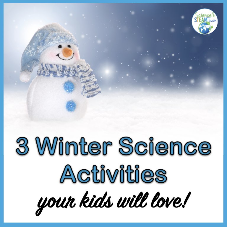 winter science activities featured image