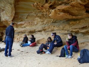 sandstone caves on our walkabout
