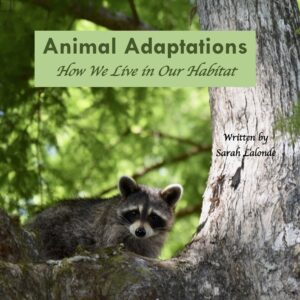 Book cover for book that teaches children how animals adapt to their environment